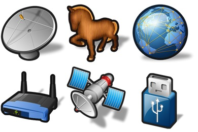 Stroke Networking Icons