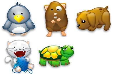 Tiny Animals Icons