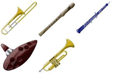 Wind Instruments Icons