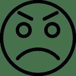 Angry Icon Line Iconset Iconsmind