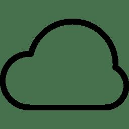 Cloud Icon | Line Iconset | IconsMind