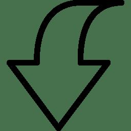 Down 2 2 icon