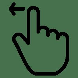 Drag Left icon