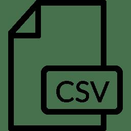File CSV icon