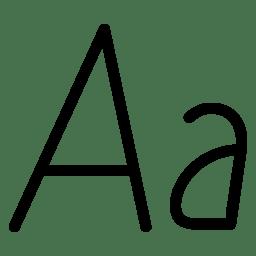 Italic Text icon