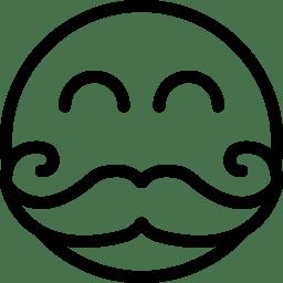 Moustache Smiley icon