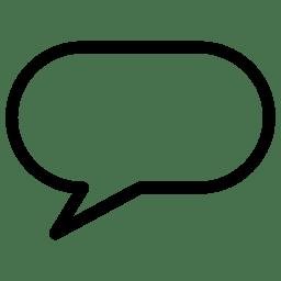 Speach Bubble 8 icon