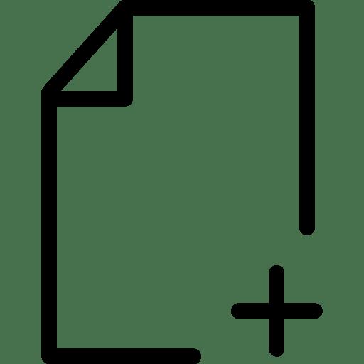 Add File Icon | Line Iconset | IconsMind