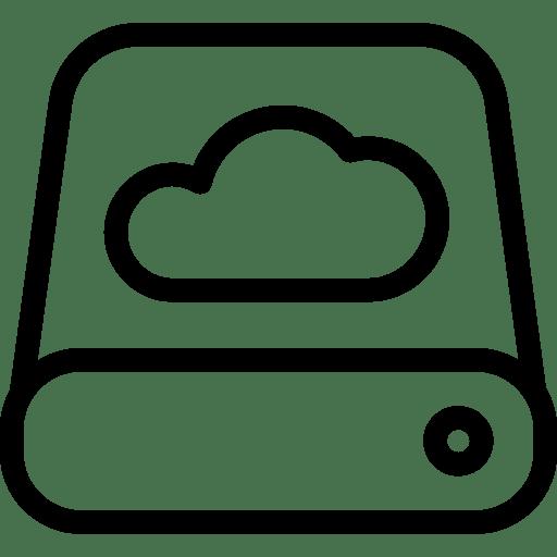 Data Cloud Icon | Line Iconset | IconsMind