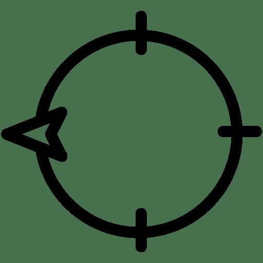 direction west icon line iconset iconsmind