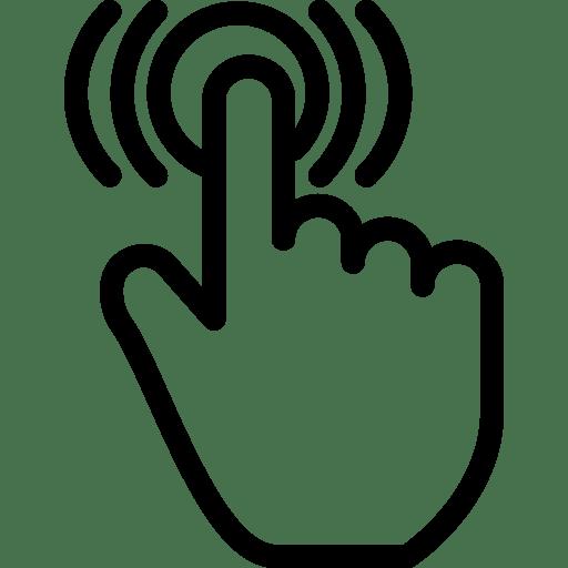 Double Tap Icon | Line Iconset | IconsMind