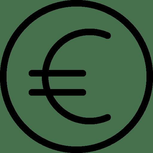 Euro Sign Icon Line Iconset Iconsmind