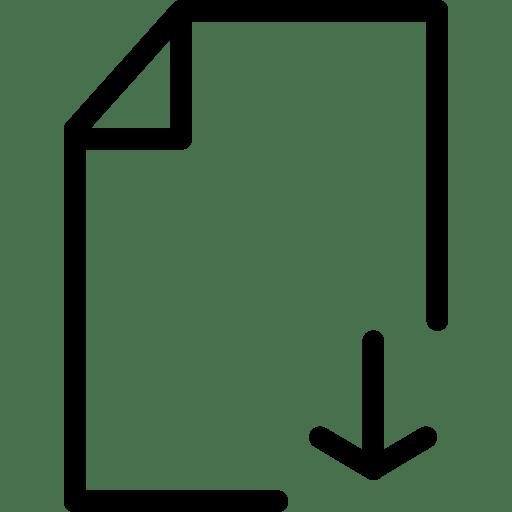 File Download Icon | Line Iconset | IconsMind