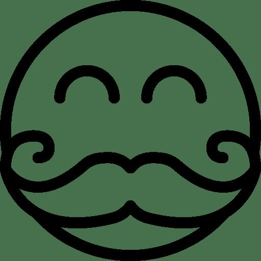 Moustache-Smiley icon