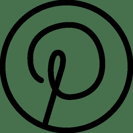 Pinterest Icon | Line Iconset | IconsMindPinterest Circle Icon