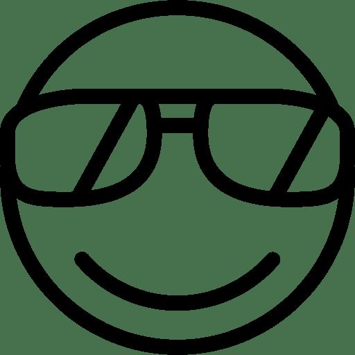 Sunglasses-Smiley icon
