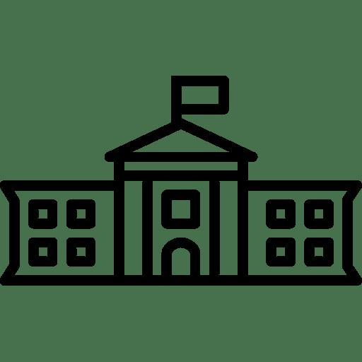The WhiteHouse Icon | Line Iconset | IconsMind