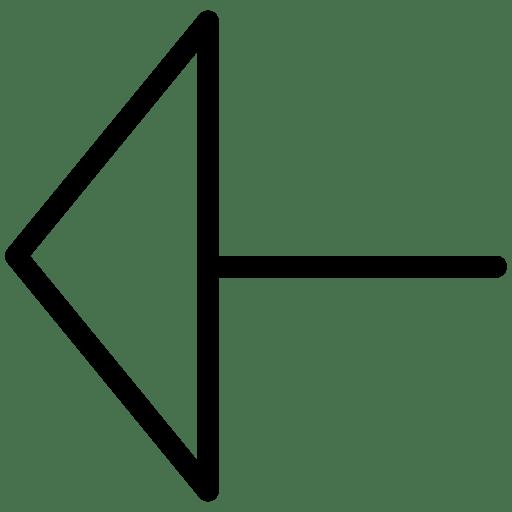 Triangle-ArrowLeft icon