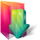 Folders downloads icon