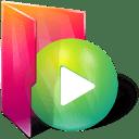 Folders play icon