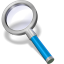 search blue icon