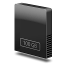 Drive slim internal 100gb icon