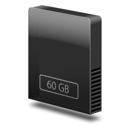 drive slim internal 60gb icon