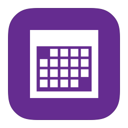 MetroUI Apps Calendar icon
