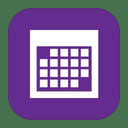 MetroUI Apps Calendar Icon | iOS7 Style Metro UI Iconset | igh0zt