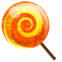 candy orange icon