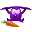violet rabbit icon