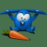 Blue-rabbit icon