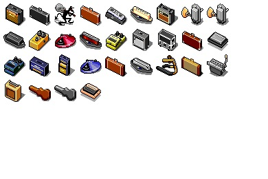 Guitar Accessoires Icons