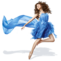 Girls Blue Dress icon