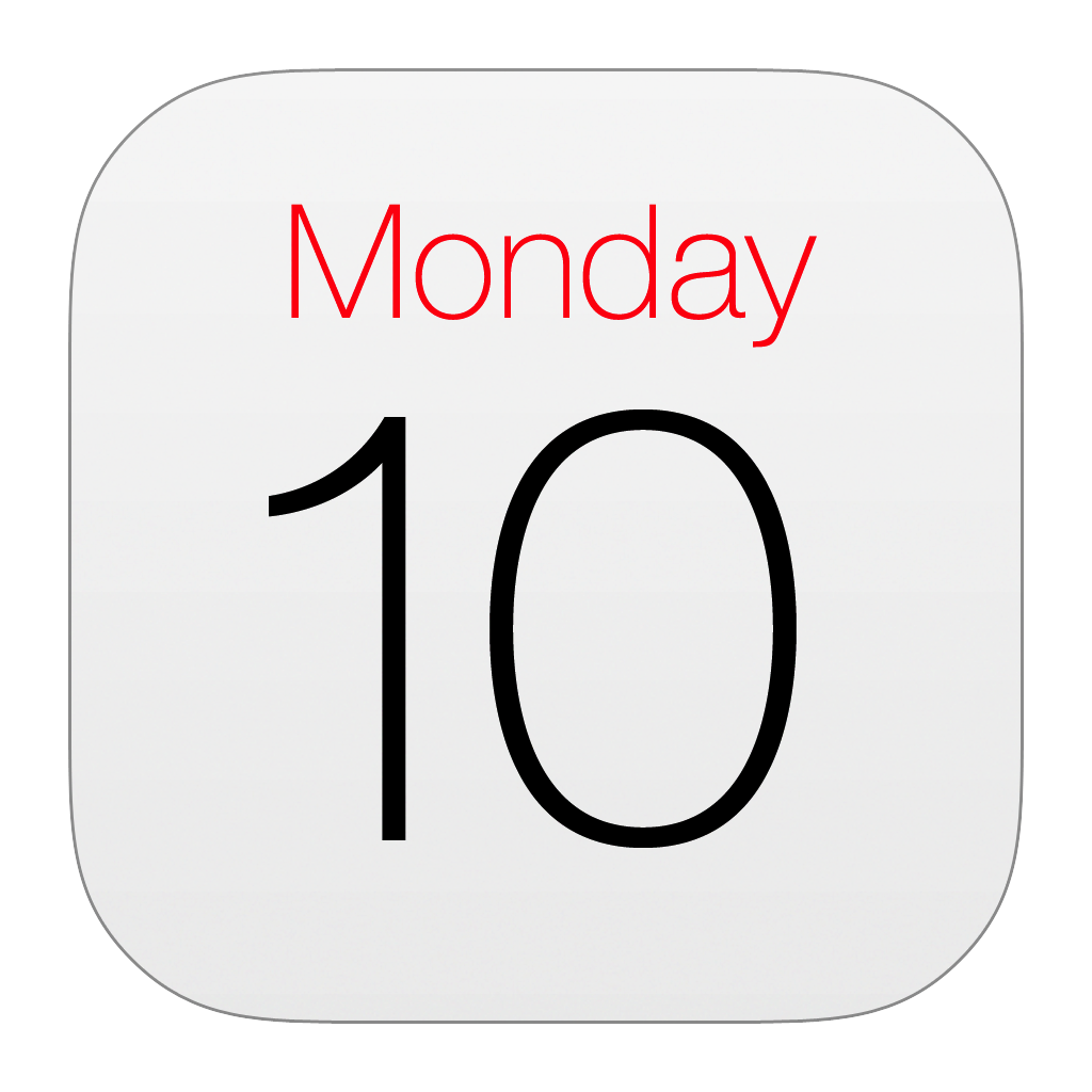 Blank Calendar App Icon : Calendar official icon ios style iconset iynque
