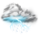 thunder lightning storm icon