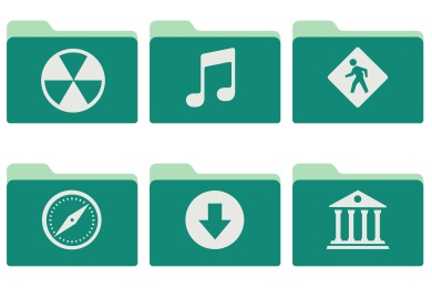 Green Tropical Waters Folders Icons