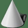 Taper-cone icon