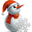 http://icons.iconarchive.com/icons/jj-maxer/merry-christmas/64/snowman-icon.png