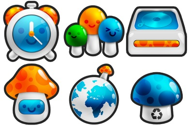 Mushroom Icons