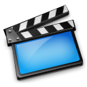 Movies blue icon