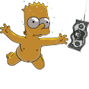 Bart Simpson 06 Nirvana Nevermind icon