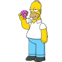 Homer Simpson 01 Donut icon