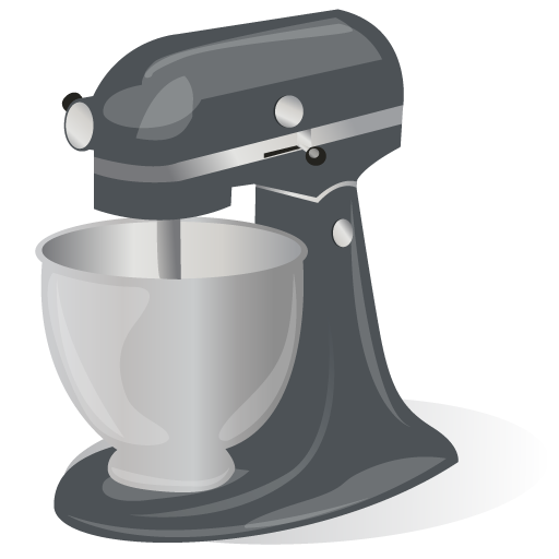 Cartoon Kitchen Mixer ~ Rotating stand mixer icon kitchen iconset julie henriksen