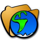 folder globe icon