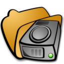 Folder harddrives icon