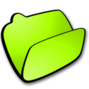 Folder-lime-open icon