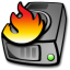Harddrive burning icon