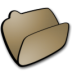 Folder-brown-open icon