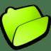 Folder-lime-open icon